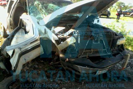 Otro accidente en la avenida 70 de Ciudad Caucel con la carretera Mérida-Tetiz