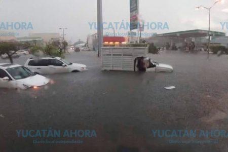 Diversas afectaciones por la lluvia en Mérida