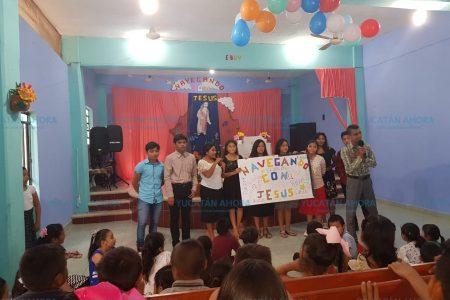 Clausuran curso bíblico de verano para niños en Kinchil
