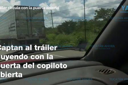 Trailero borracho siembra terror y saca de la carretera a un autobús del ADO