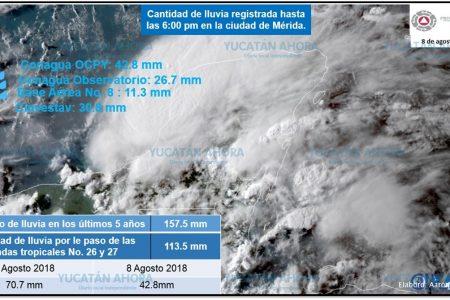 En dos días han caído dos tercios de las lluvias promedio para un mes de agosto