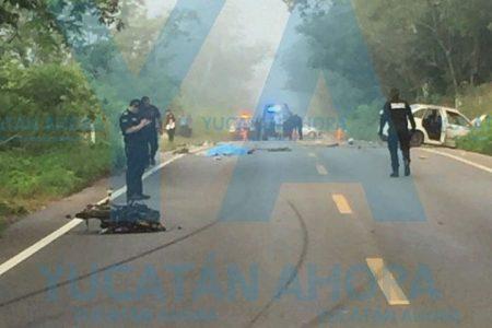 Tragedia en el sur de Yucatán: Auto choca un mototaxi con saldo de dos muertos