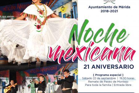 Ballets, solistas y mariachis invitados a festejar 21 años del programa 'Noche Mexicana'
