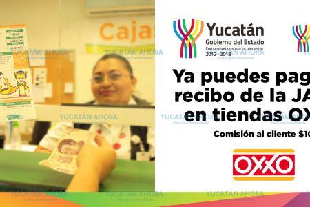 Formalizan pago del agua potable en las tiendas Oxxo en Mérida