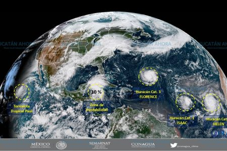 Los ciclones son traicioneros, por eso vigilan de cerca a 'Florence', 'Helene' e 'Isaac'