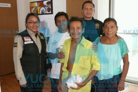 Abuelito extraviado ya está con sus familiares