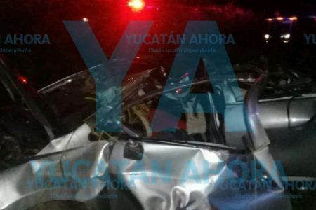 Conductor muere prensado en la carretera Muna-Abalá