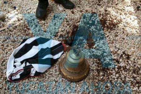 Dio el grito atrasado: lo sorprenden robando campanas de bronce