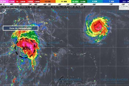 Se fortalece zona de inestabilidad frente a la Península de Yucatán