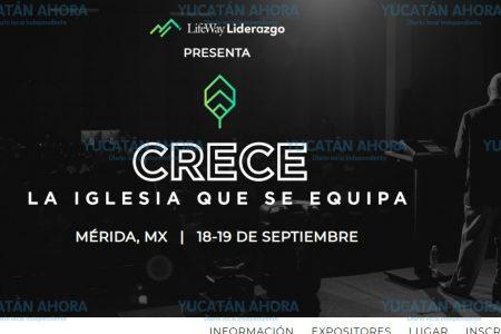Congreso evangelista 'Crece' sale de Estados Unidos y aterriza en Mérida