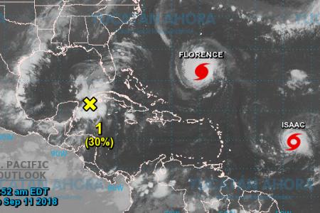 Se esperan lluvias y vientos fuertes en la costa por zona de baja presión en el Caribe