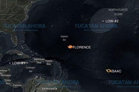 Dos huracanes, una tormenta y ahora una baja presión frente la Península de Yucatán