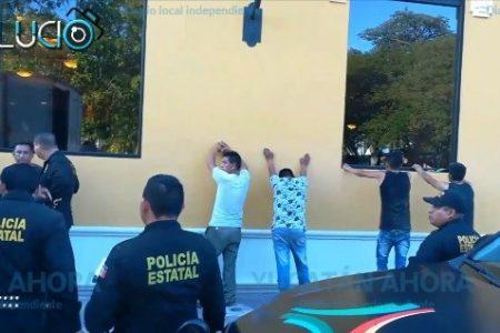 Detienen en Campeche a sujetos que vaciaron un comercio en Progreso