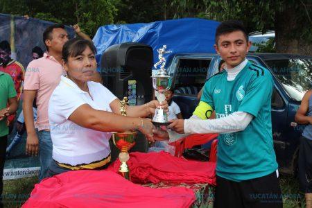 Culmina 2da edición de la liga antorchista de fútbol en el oriente de Yucatán