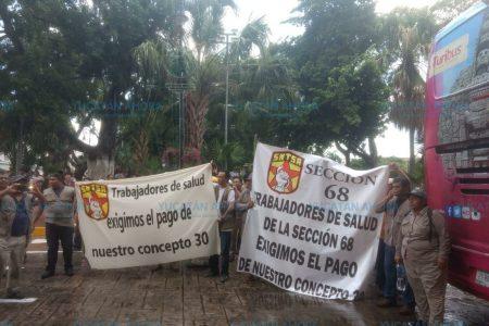 Nueva protesta de trabajadores de salud para exigir un pago pendiente