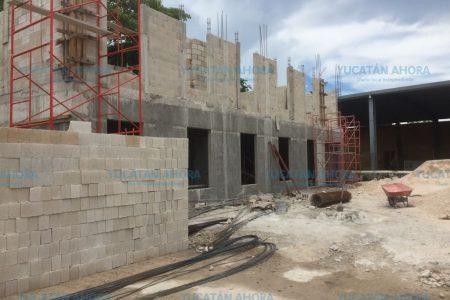 Nueva casa de la cultura antorchista en Izamal, con 60 por ciento de avance