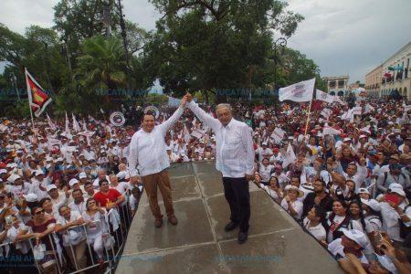 López Obrador regresa a Yucatán, luego de su histórico triunfo