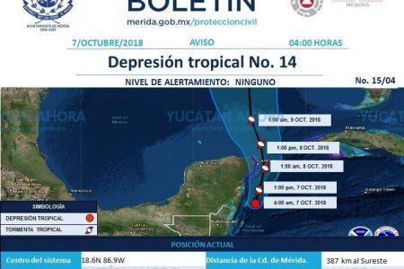En caso de evolucionar la Depresión Tropical 14 se llamará 'Michel'