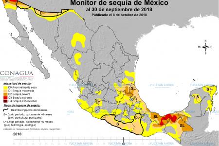 Lento avance de la sequía en el sur de Yucatán