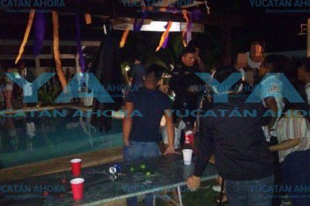 Por quinceañera destrampada descubren fiesta 'rave' en la costa yucateca