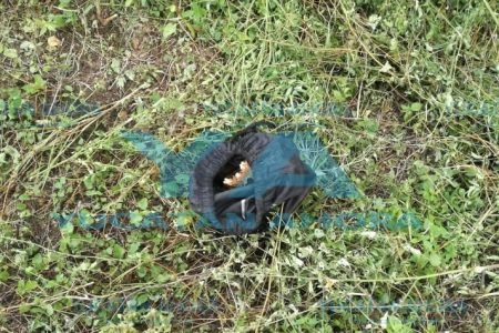 Envuelto en tela negra encuentran cráneo humano en terreno baldío