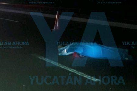 Auto 'fantasma' le arrebata la vida en la carretera Mérida-Chetumal
