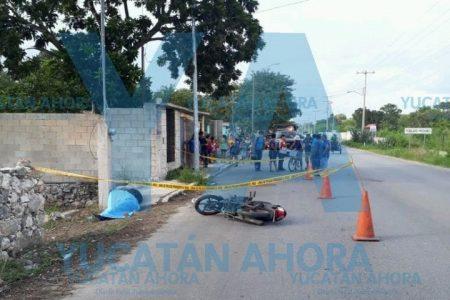 Trágica muerte de un motociclista en Dzununcán
