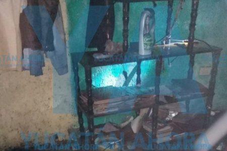 Ebrio, ve arder su pantalla plana en la Morelos Oriente