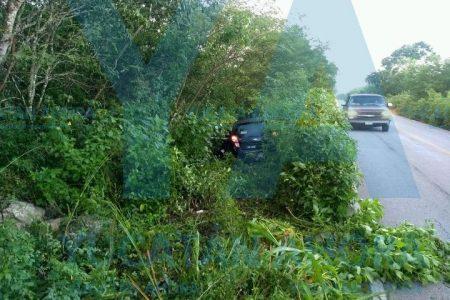 Joven meridano dormita al volante en la carretera Motul-Suma de Hidalgo