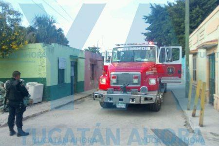 Se incendia de repente la manguera de un tanque de gas en Kanasín