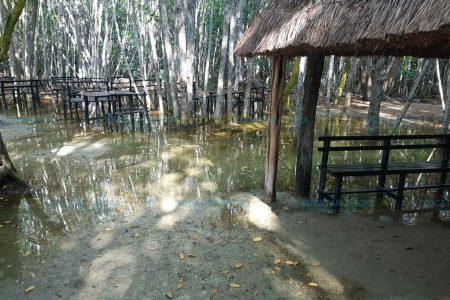 Las lluvias y la Luna llena obligan a cerrar El Corchito en Progreso