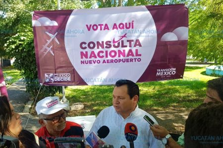 Sin problemas se desarrolla en Yucatán consulta por el nuevo aeropuerto