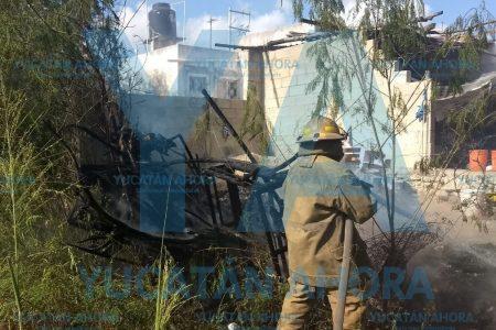 Quiso ahuyentar con fuego una culebra y quemó el patio de su casa
