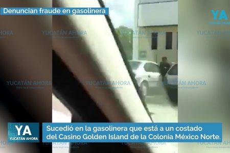 Denuncian fraude en gasolinera del norte de Mérida