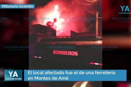 Incendio con millonarias pérdidas en una ferretería de Montes de Amé