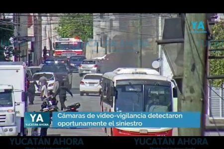 Céntrico incendio propicia fuerte movilización policiaca