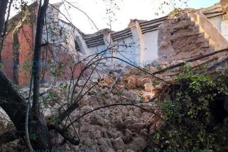 Se desploma joya arquitectónica de la época colonial en el oriente de Yucatán