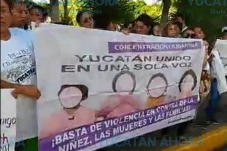 Exigen alto a la violencia contra las mujeres en Yucatán