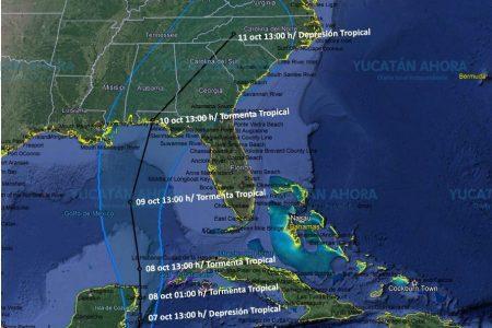 Ya es depresión tropical: se mueve frente a las costas de la Península de Yucatán