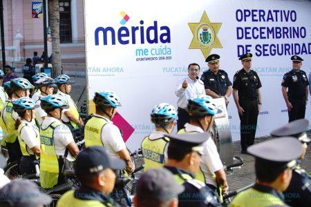 Refuerzan el patrullaje en el centro de Mérida por compras decembrinas
