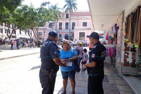 Vigilancia especial en el centro de Mérida por El Buen Fin