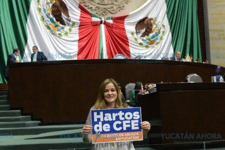 Abandera Cecilia Patrón lucha contra las tarifas eléctricas domiciliarias