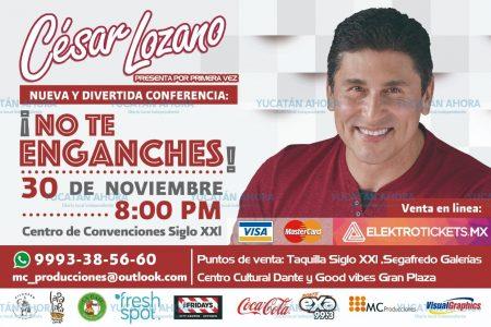 Por si te hacen falta buenos consejos… anuncian a César Lozano en Mérida