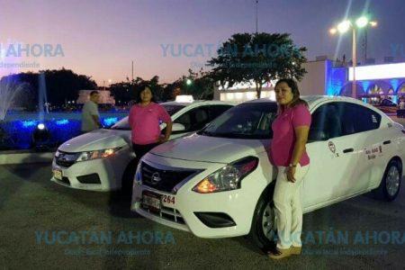 Los taxis rosas en Xmatkuil, una oportunidad laboral para mujeres