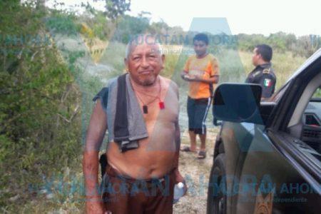 Abuelito se 'escapó' para ir a tomar los tragos y se extravió en el monte