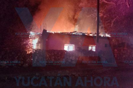 Arde una vivienda en Izamal