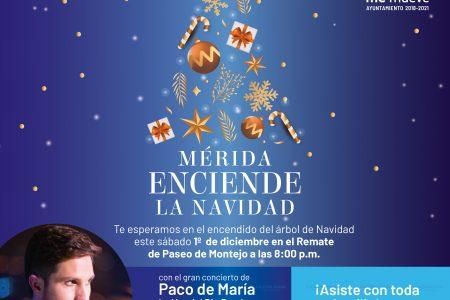 Mérida inicia su Navidad este fin de semana con encendido de árboles
