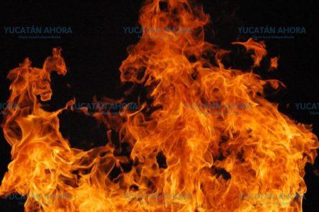 Flamazo en estufa ocasiona un incendio en Polígono 108 Itzimná