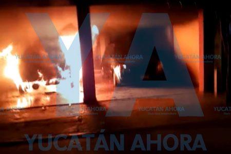 Hijo malcriado lanza bomba molotov contra un auto de su madre, en Francisco de Montejo