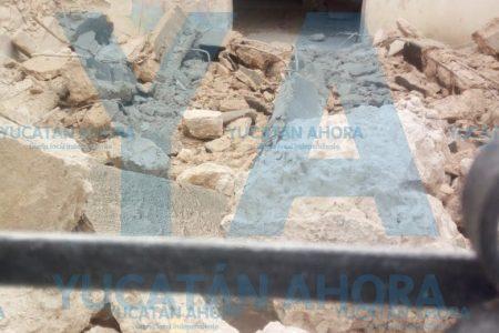 Se derrumba antigua casa en el centro de Mérida